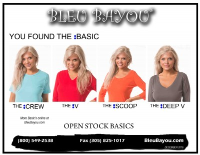 BLEU BAYOU Open Stock Basics